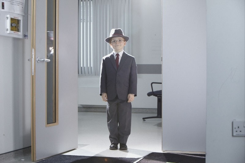Un sorridente Maurice Cole in un'immagine tratta dal film Foster