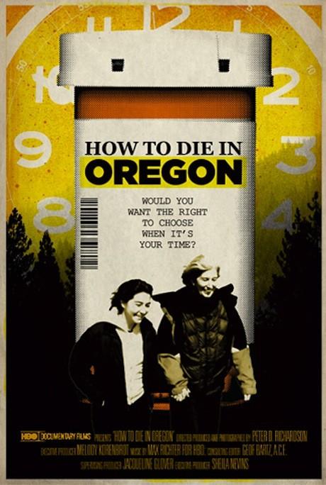 How to die in Oregon, la locandina del film di Peter Richardson