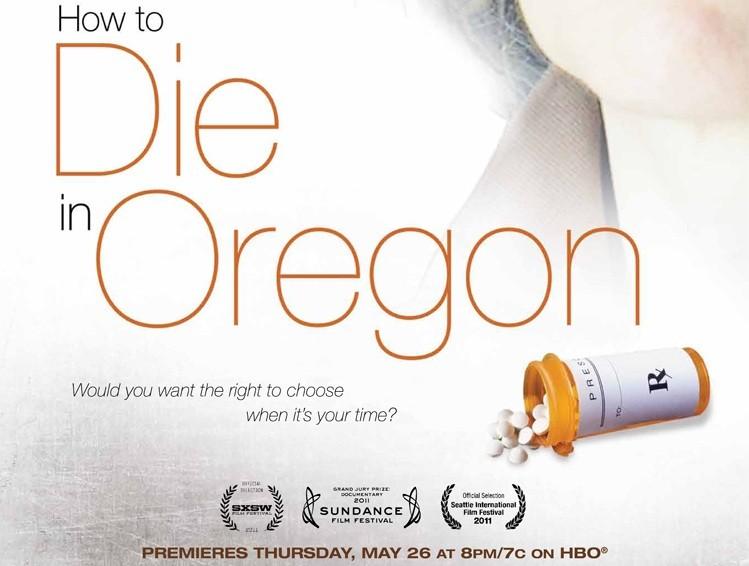How to die in Oregon, un poster del film