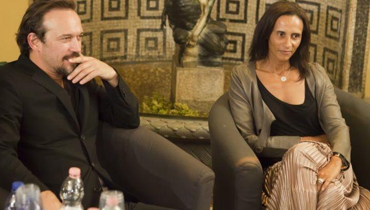 Vincent Perez e la moglie Karine Silla Perez a Freizne per presentare Un baiser papillon