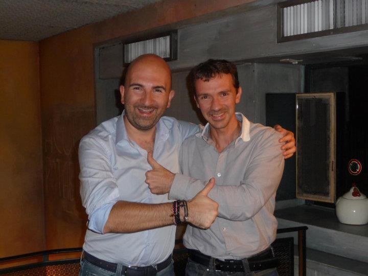 Donato Carrisi e Franck Thilliez (foto di Franck Thilliez)