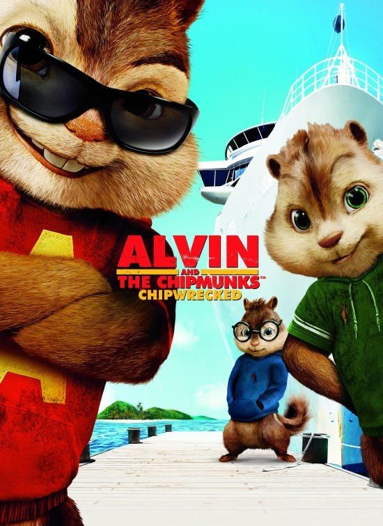Alvin and the Chipmunks: Chip-Wrecked: nuovo poster USA