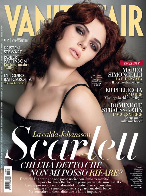 Scarlett Johansson su Vanity Fair Italia, novembre 2011