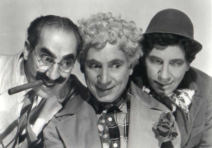 I fratelli Marx: Groucho, Harpo, Chico