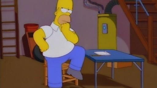I Simpson: una scena de L'inventore di Springfield ( Stagione 10)