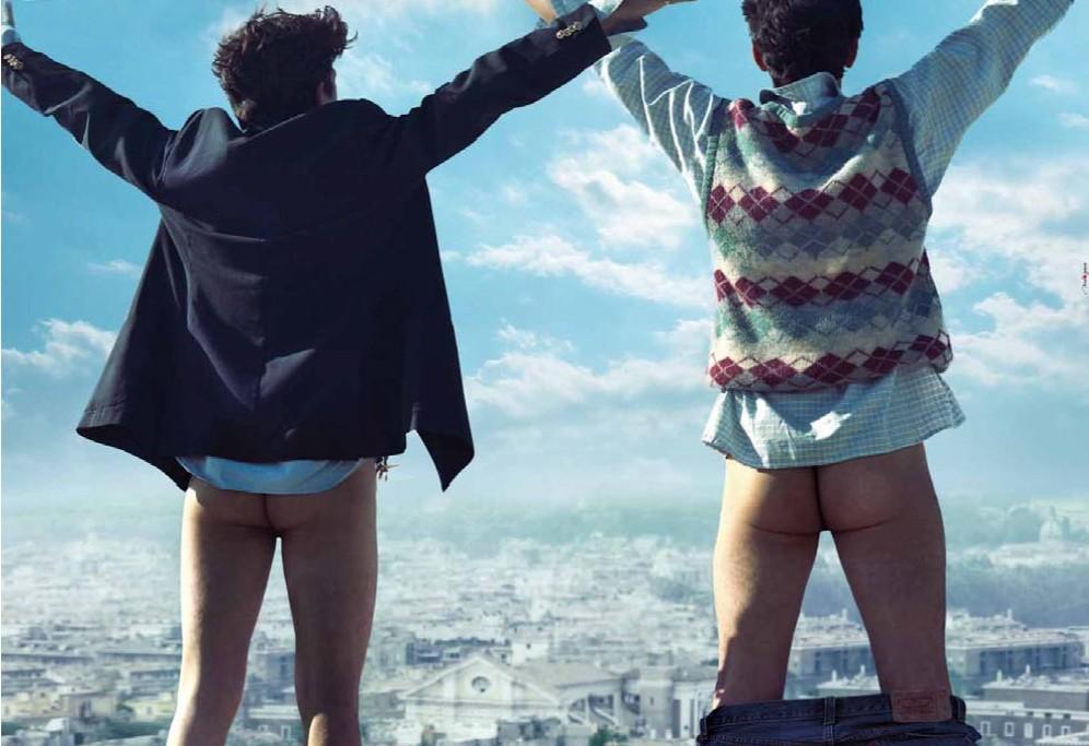 I Soliti Idioti: Wallpaper del film con il 'lato b' di Biggio e Mandelli