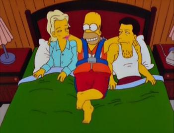 Kim Basinger e Alec Baldwin nell'episodio Dalle stalle alle stelle de I Simpson