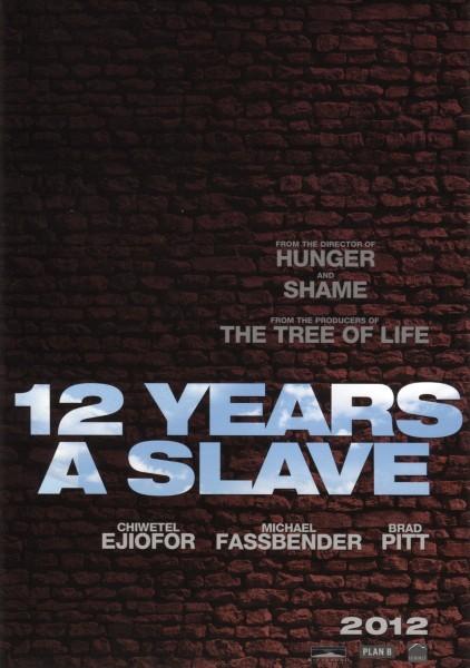 Twelve Years a Slave: la locandina del film