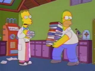 Una scena dell'episodio L'inventore di Springfield ( Stagione 10 - I Simpson )