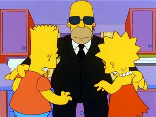 Una scena dell'episodio Sindacato con la mafia della stagione 10 de I Simpson