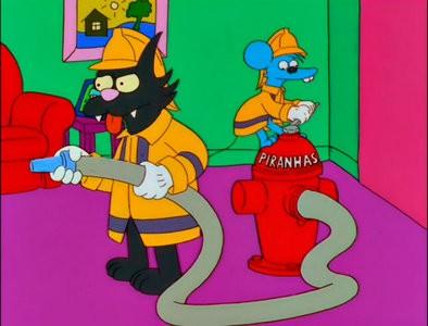 Una sequenza de La paura fa novanta IX (Stagione 10) de I Simpson
