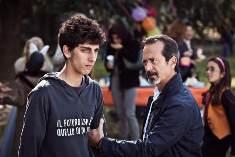 E' nata una star? - Rocco Papaleo insieme a Pietro Castellitto in una scena del film