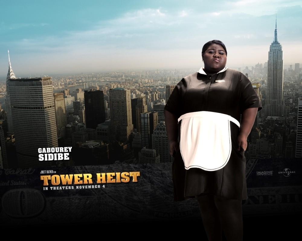 Gabourey Sidibe in un character wallpaper del film Tower Heist: Un colpo ad alto livello