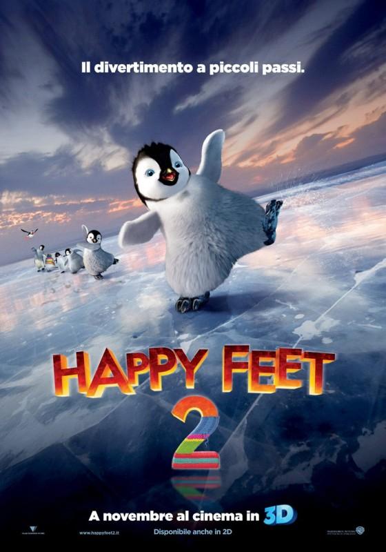 Happy Feet 2 in 3D: una locandina italiana del film