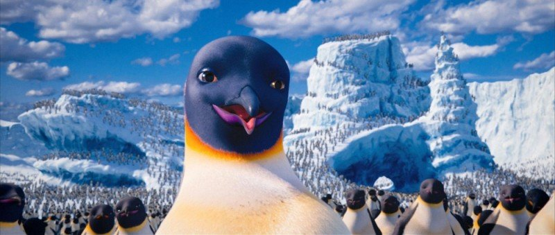 Happy Feet 2 in 3D: la mamma pinguino Gloria in una scena del film