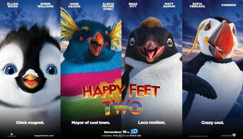 Happy Feet 2 in 3D: un coloratissimo poster orizzontale del film