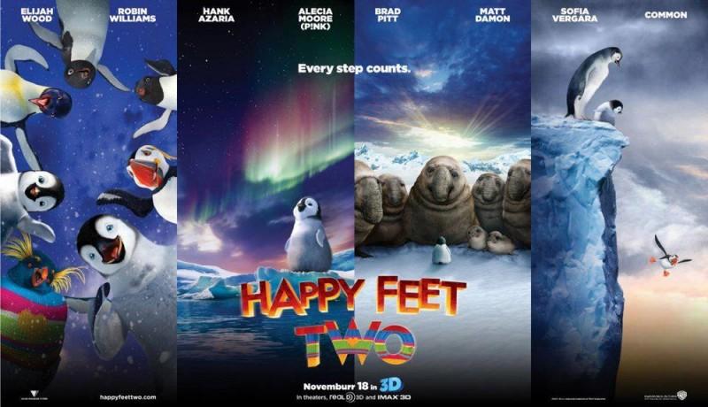 Happy Feet 2 in 3D: un nuovo divertente poster orizzontale del film