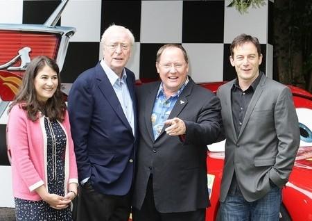 John Lasseter, Michael Caine e Jason Isaacs alla prima londinese di Cars 2