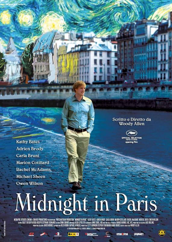 Midnight in Paris: la locandina italiana del film