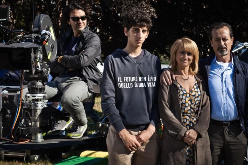 Rocco Papaleo e Luciana Littizzetto insieme a Pietro Castellitto sul set di E' nata una star?
