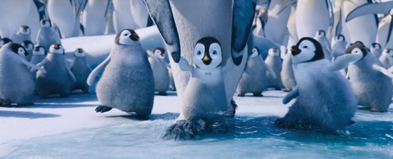 Una scena tratta dal film d'animazione Happy Feet 2 in 3D