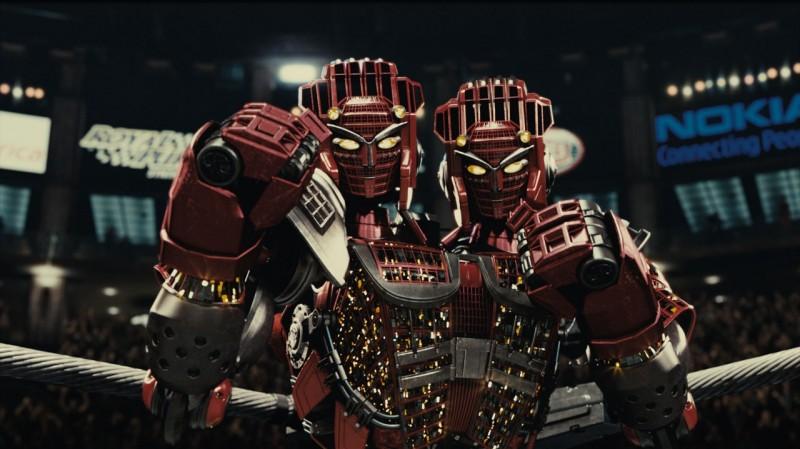 Real Steel: Twin Cities, il robot a due teste sul ring in una scena del film