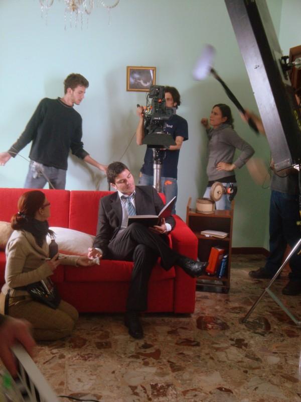 Salvatore Ruocco sul set di un film