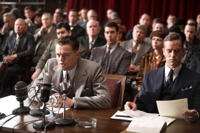 J.Edgar: Leonardo DiCaprio e Armie Hammer in una scena del biopic