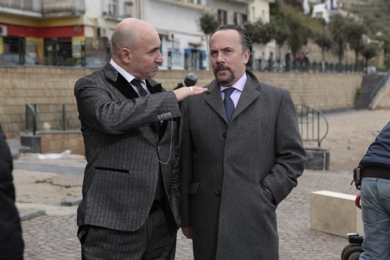 Maurizio Battista e Maurizio Casagrande sul set del film Napoletans