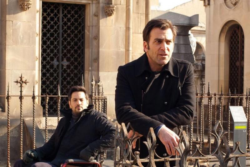 11-11-11: Michael Landes con Timothy Gibbs  in una scena del film diretto da Darren Lynn Bousman