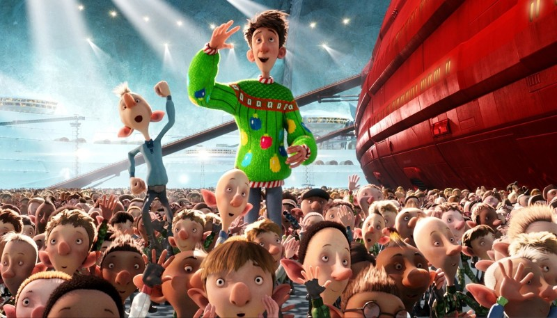 Arthur Christmas, figlio di Babbo Natale in una scena del film