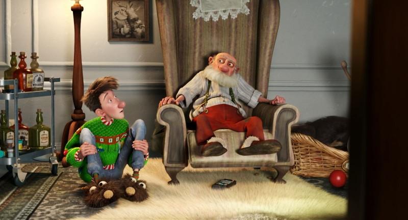 Arthur Christmas, figlio di Babbo Natale in una scena del film natalizio