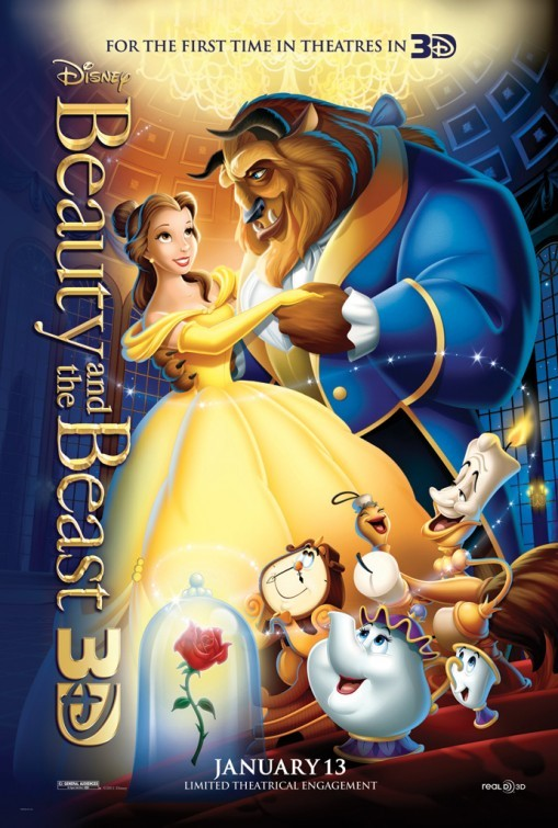Beauty and the Beast in 3D: poster USA
