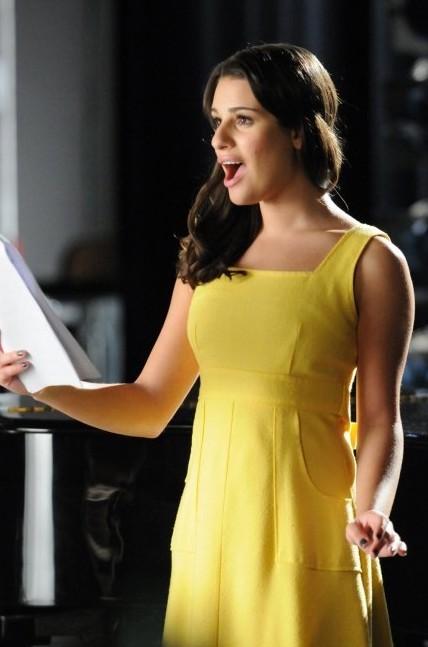 Glee: Lea Michele in una scena dell'episodio The First Time