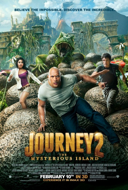 Journey 2: The Mysterious Island: primo poster USA