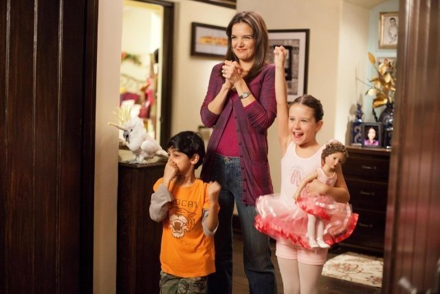 Katie Holmes in Jack and Jill con i piccoli Rohan Chand ed Elodie Tougne