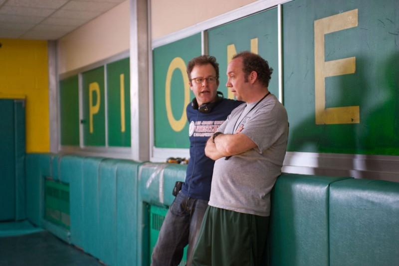Thomas McCarthy e Paul Giamattin sul set di Mosse Vincenti