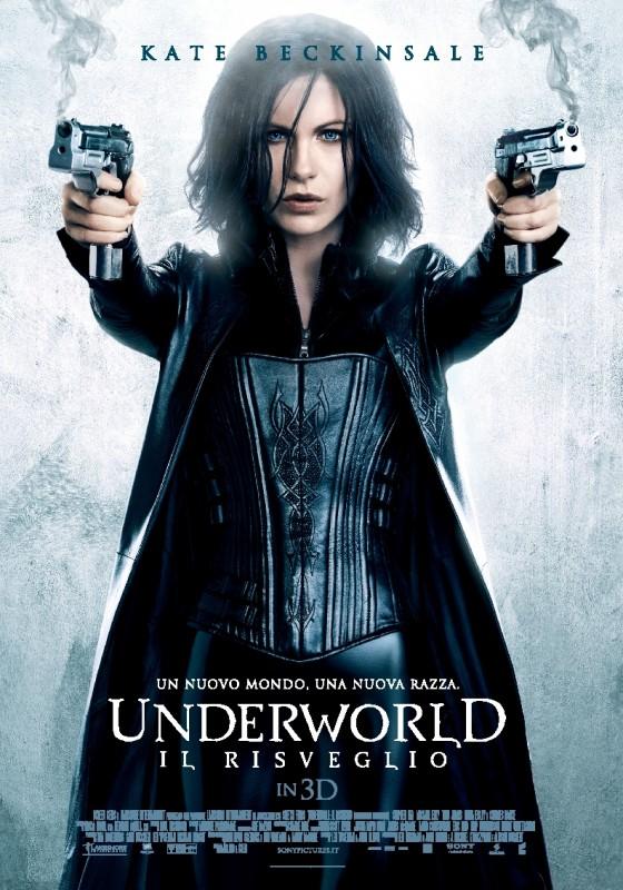 Underworld: il risveglio 3D, la locandina italiana