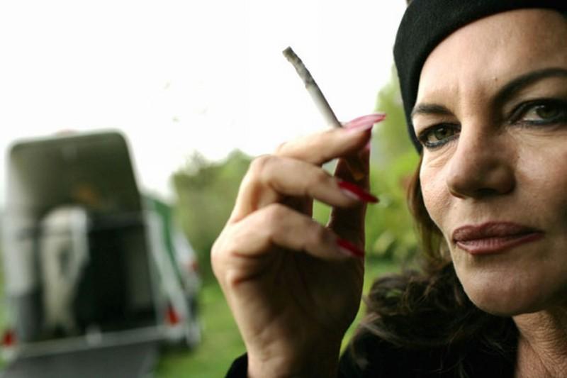 Cristina Donadio sul set del film L'era legale