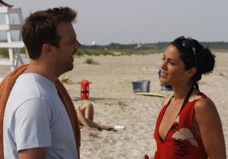Jason Sudeikis e Michelle Borth in una scena di A good old fashioned orgy