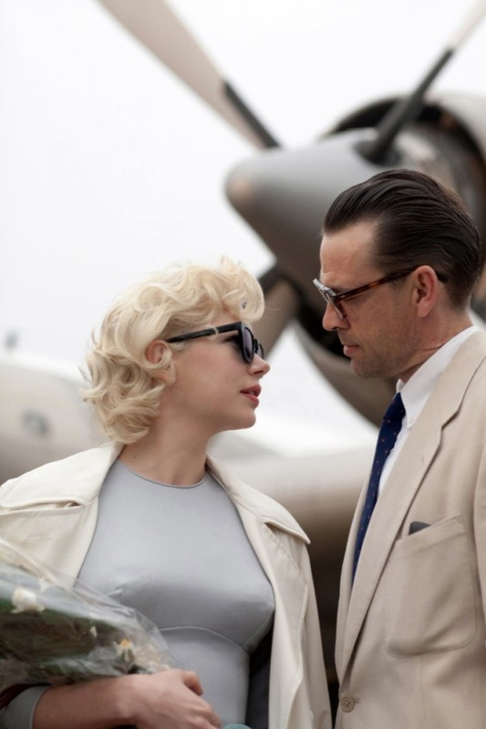 Michelle Williams in My Week With Marilyn con Dougray Scott nel ruolo di Arthur Miller