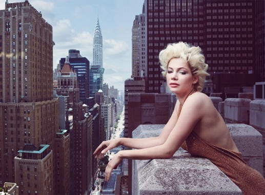 Michelle Williams su Vogue per promuovere 'My Week With Marilyn'