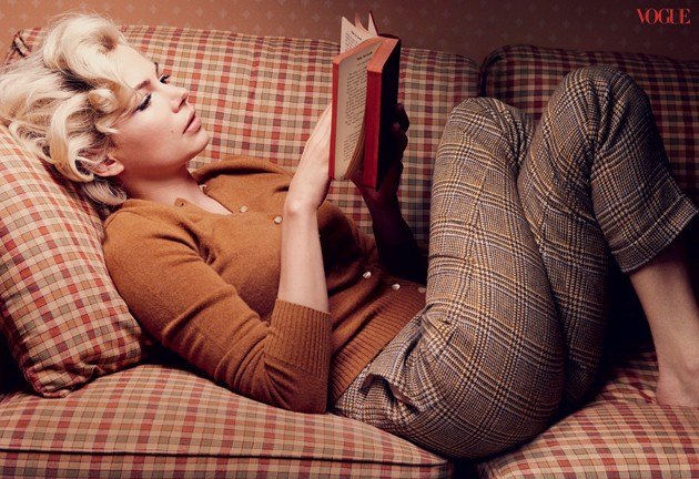 Michelle Williams sul magazine Vogue per promuovere 'My Week With Marilyn'