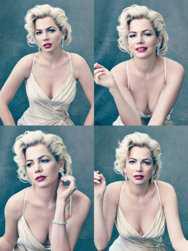 Scatti di Michelle Williams su Vogue per promuovere 'My Week With Marilyn'