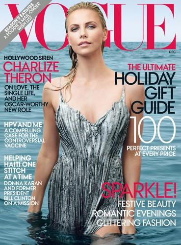 Charlize Theron: una sirena sulla cover di Vogue USA (novembre 2011)