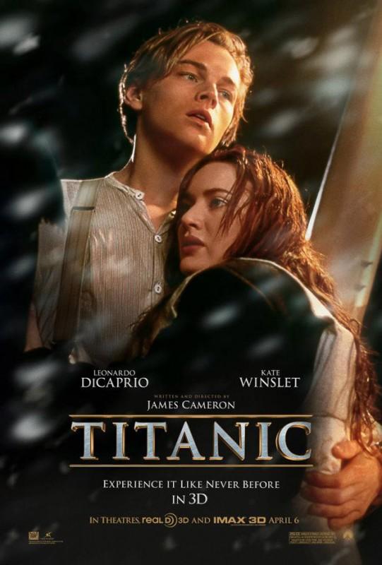 Titanic in 3D: la locandina del film