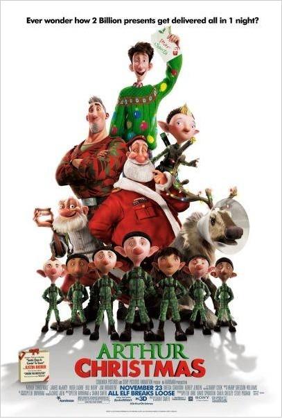 Arthur Christmas: Il figlio di Babbo Natale in 3D: la locandina americana del film