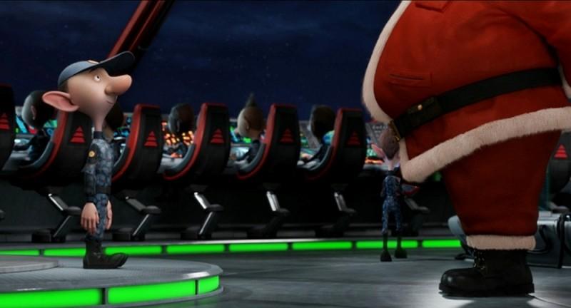 Arthur Christmas: Il figlio di Babbo Natale, una scena del film delle feste 2011