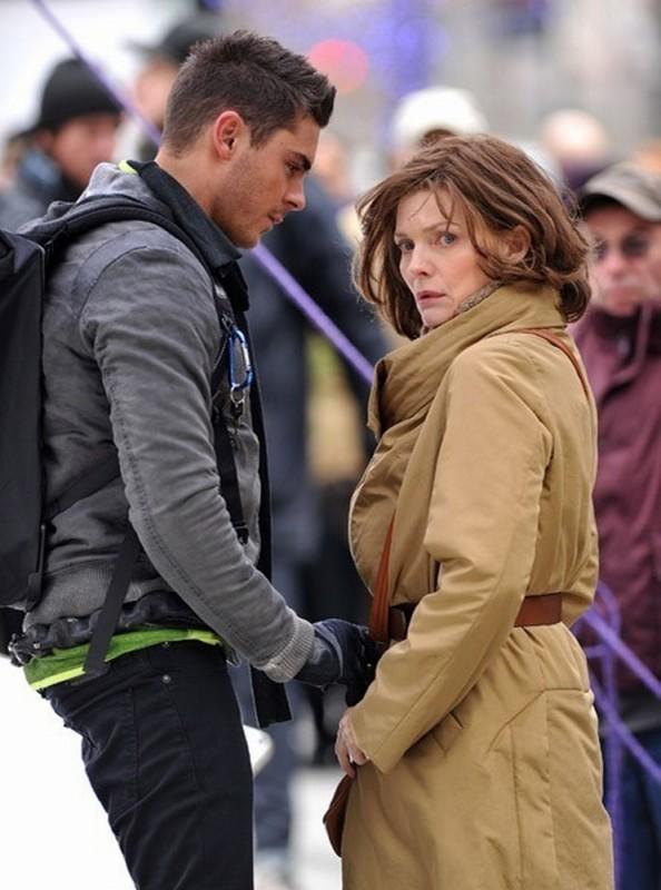 Capodanno a New York: Michelle Pfeiffer e Zac Efron sul set del film