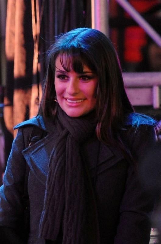 Lea Michele in una bella immagine di Capodanno a New York